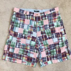 J. Crew madras patchwork shorts- 35